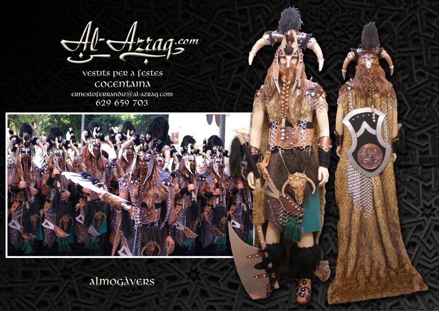 Traje guerrero vikingo denominado Almogavers