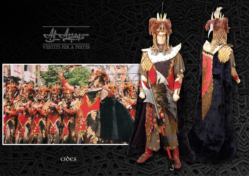Traje guerrero cristiano de la filà Cides de Alcoy.