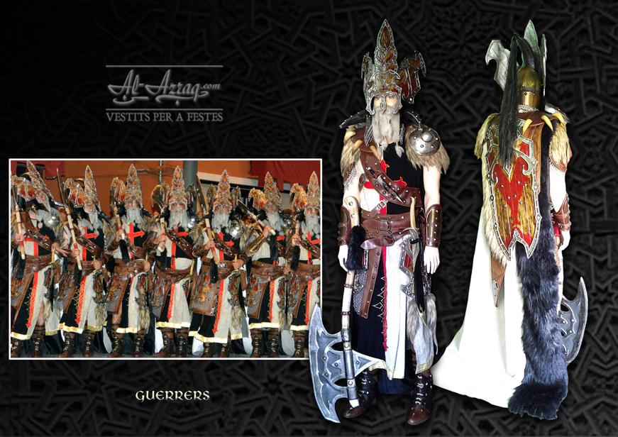 Traje guerrero denominado Guerrrers