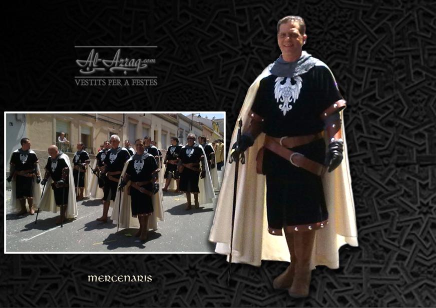 Traje de soldado medieval llamado Mercenaris
